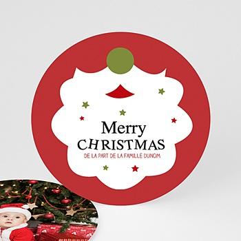Carte de voeux Merry Christmas Barbe du Pêre Noel personnalisable