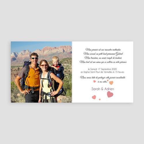 Faire-Part Mariage Personnalisés - Mariage de coeurs 44708 preview
