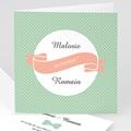 Faire-Part Mariage - Vintage Pois Verts 44725 thumb