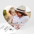 Carte de Voeux Happy New Year Coeur