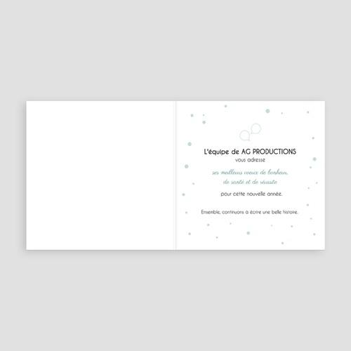 Carte de Voeux Entreprise Pois or pas cher