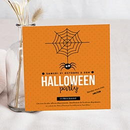 Invitations Anniversaire enfant Halloween