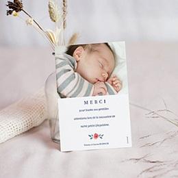 Carte remerciement naissance fille Liberty