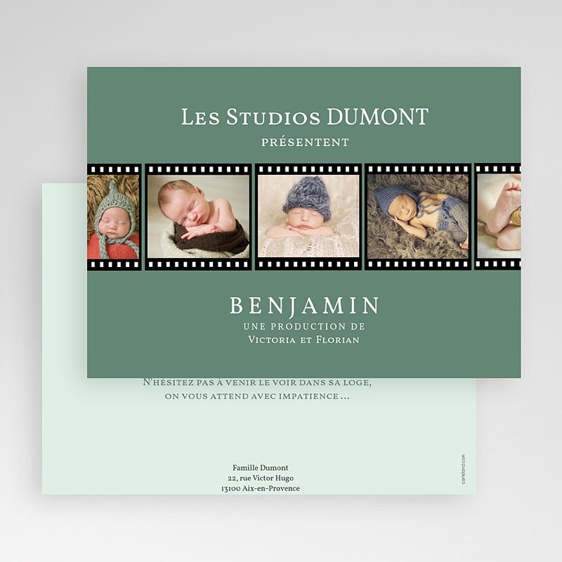 Faire-Part Naissance Garçon Cinéma d'auteur ! gratuit