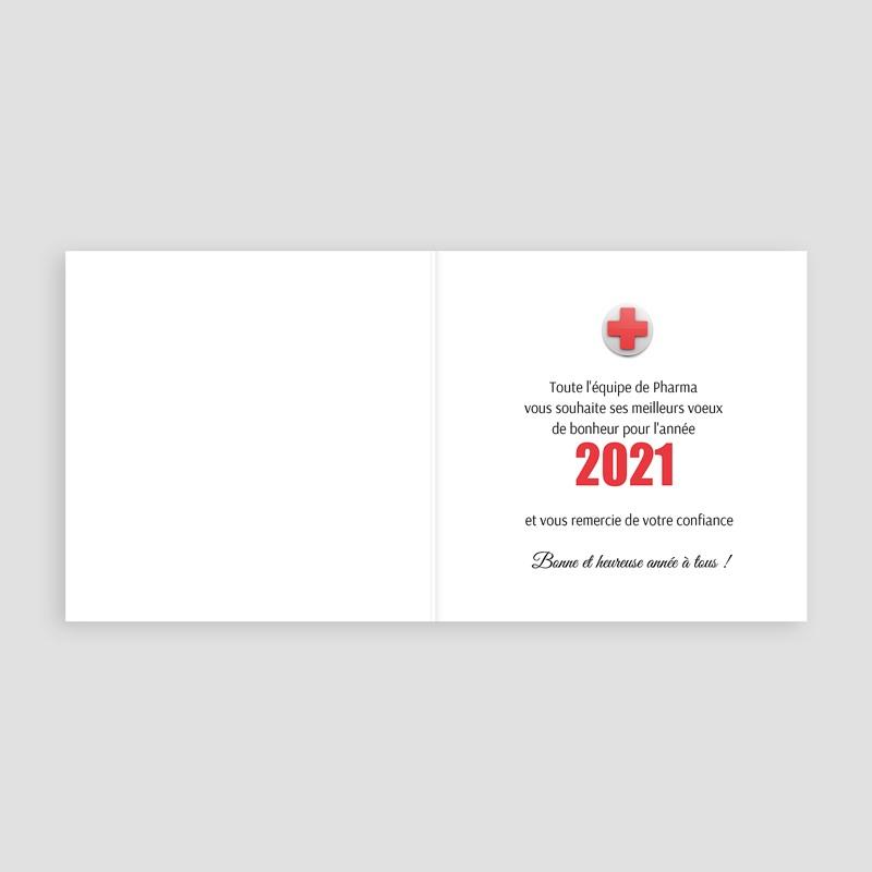 Carte de Voeux Entreprise Croix santé pas cher