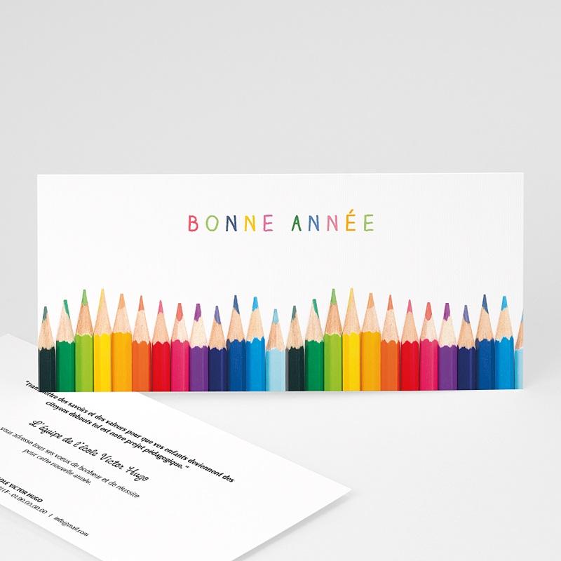Carte de voeux entreprise Aux couleurs de la vie