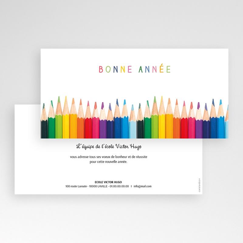 Carte de voeux entreprise Aux couleurs de la vie pas cher