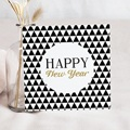 Carte de Voeux Happy New Year Black & White doré