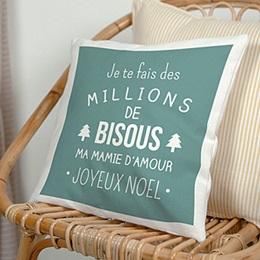Coussin Noël Doux message