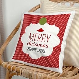 Coussin Noël Bisou de Noel
