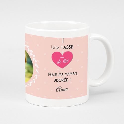 Mug Personnalisé - Tea time rosé 45094