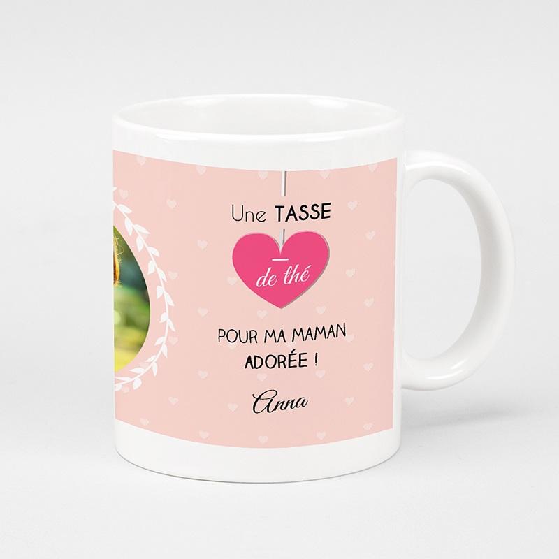 Mug Personnalisé Photo Tea time rosé