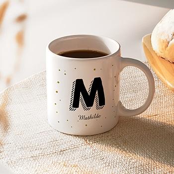 Mug Initiale + prénom personnalisable