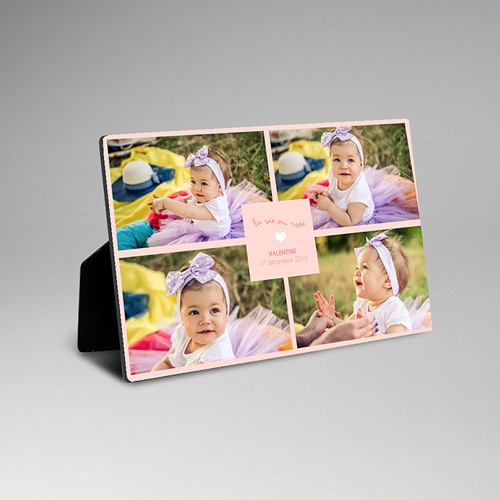 Cadre photo en bois - Nouveau-né personnalisé 45103