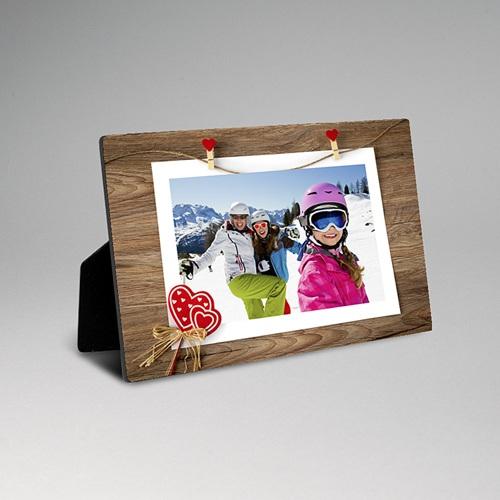 Cadre photo en bois - Noël esprit scandinave 45121