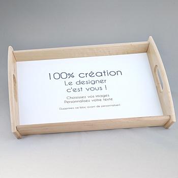 Plateau personnalisé 100% Créatif