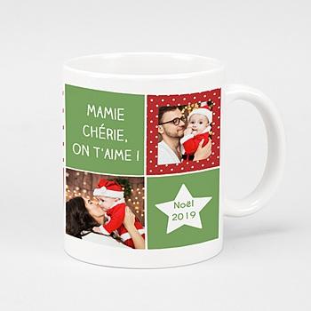 Mug Personnalisé - Damier de Noel - 0