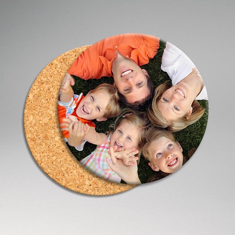 Dessous de verre avec photo Sous-bock photo