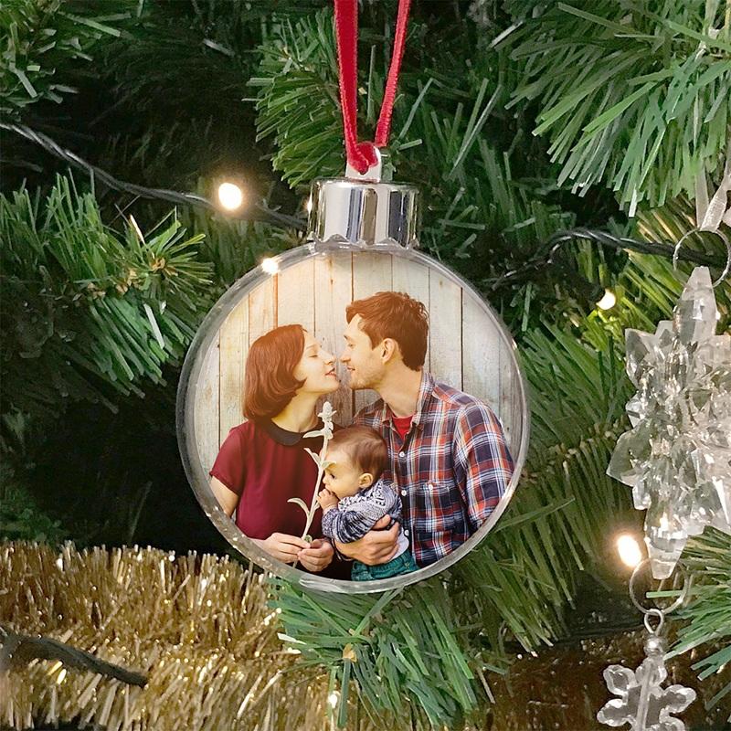 Boule Sapin Noël Personnalisée Ma famille