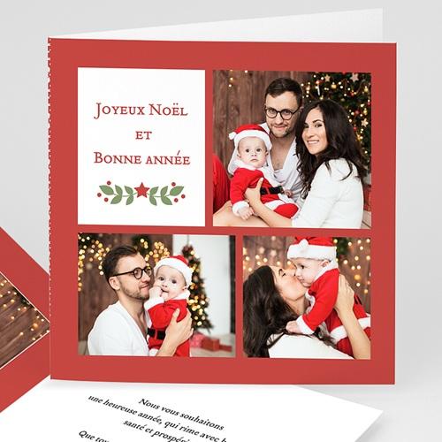 Carte de voeux 2020 Joyeux Noël et Bonne Année Voeux aquarelle
