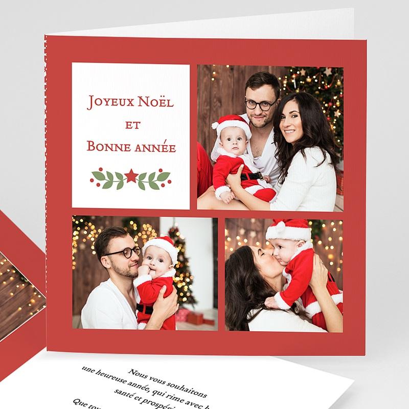 Carte de Voeux Joyeux Noël et Bonne Année Voeux aquarelle