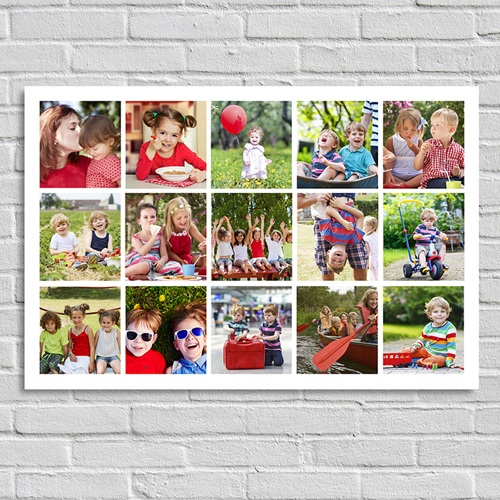 Poster personnalisé - Damier Photo Horizontal 45204 thumb