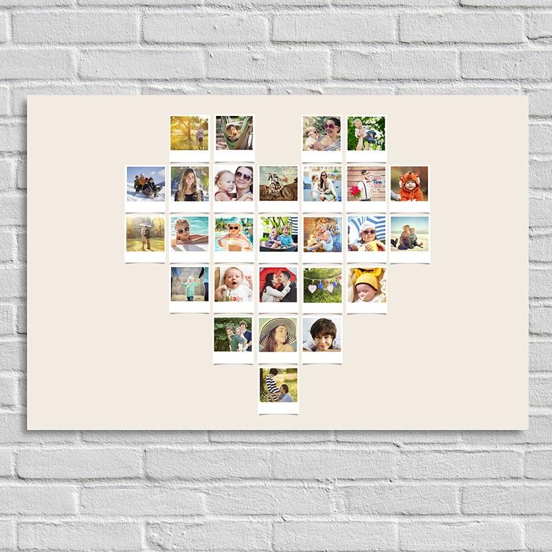 poster personnalis coeur instantan 0 - Pele Mele Photo Coeur