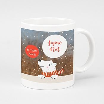 Mug Personnalisé - Ours de Noel - 0