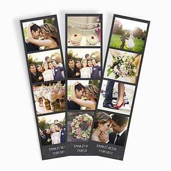 Tirage photo cabine Ardoise mariage