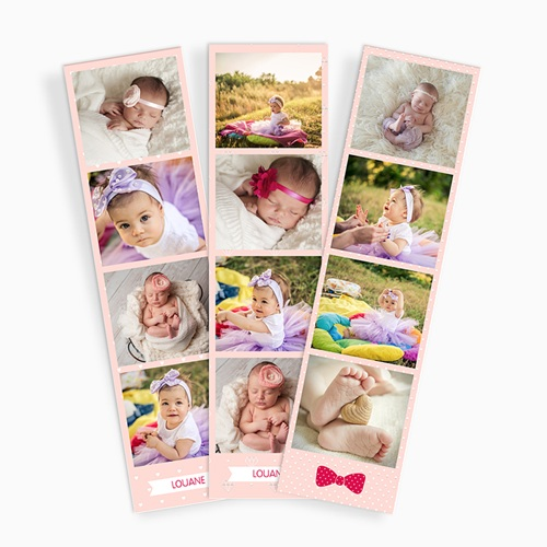 Magnet Photo Naissance rose, Lot de 3