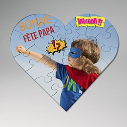 Puzzle personnalisé Super Coeur