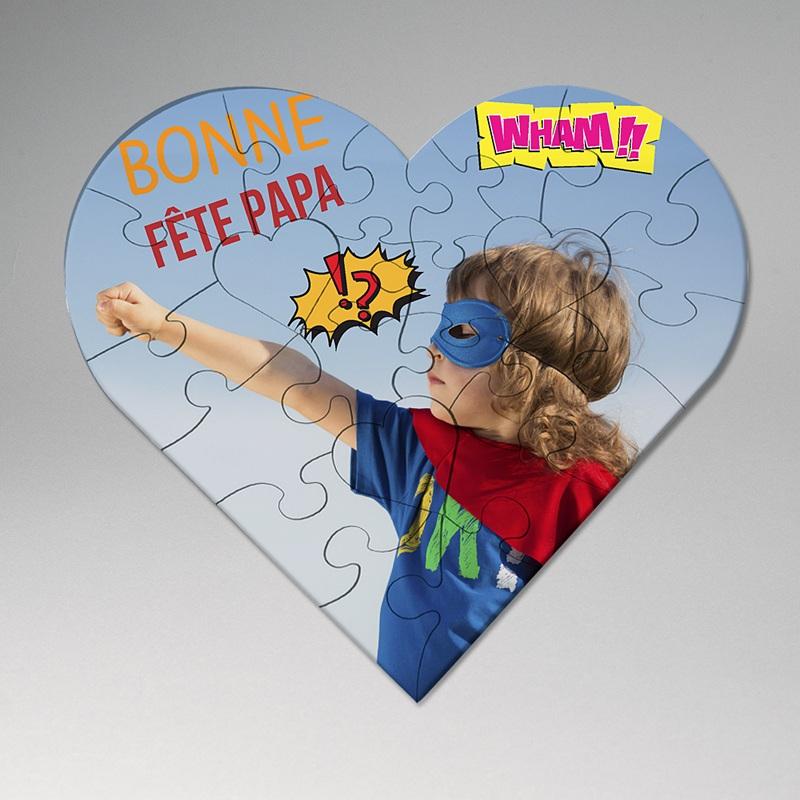 Puzzle Personnalisé Photo Super Coeur