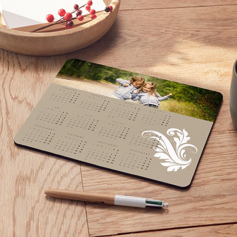 Tapis de Souris Personnalisé Photo Style calendrier