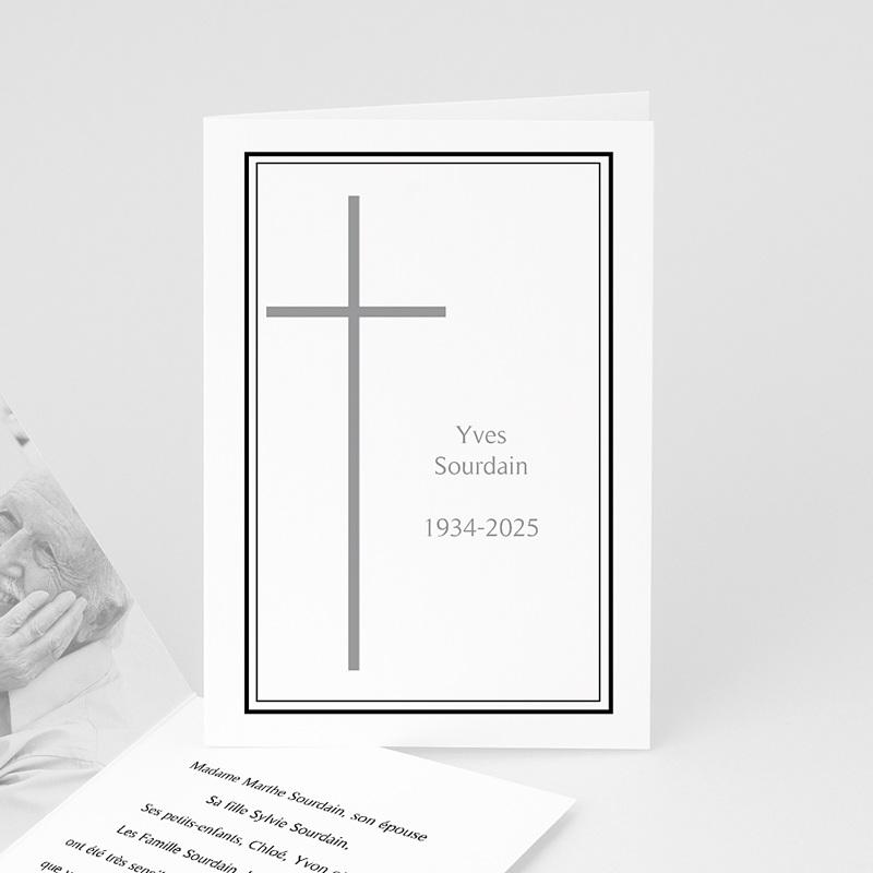 Carte remerciement décès chrétien En mémoire