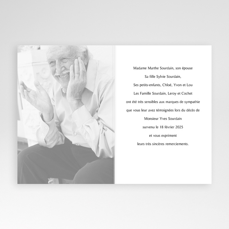 Remerciements Décès Chrétien - En mémoire  4547 thumb