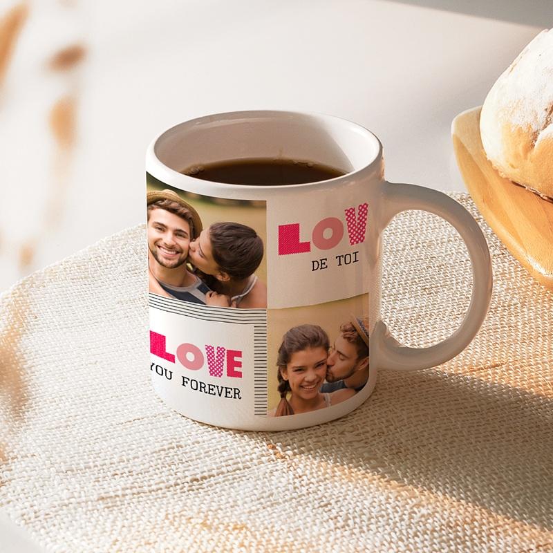 Mug Personnalisé Photo Love de toi