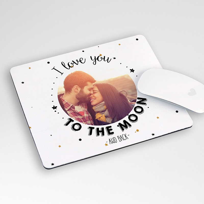 Tapis de Souris Personnalisé Photo Love to the Moon