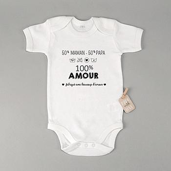 Body bébé - 100% Amour - 0