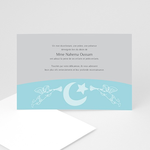 Remerciements Décès Musulman - Malak bleu 4562