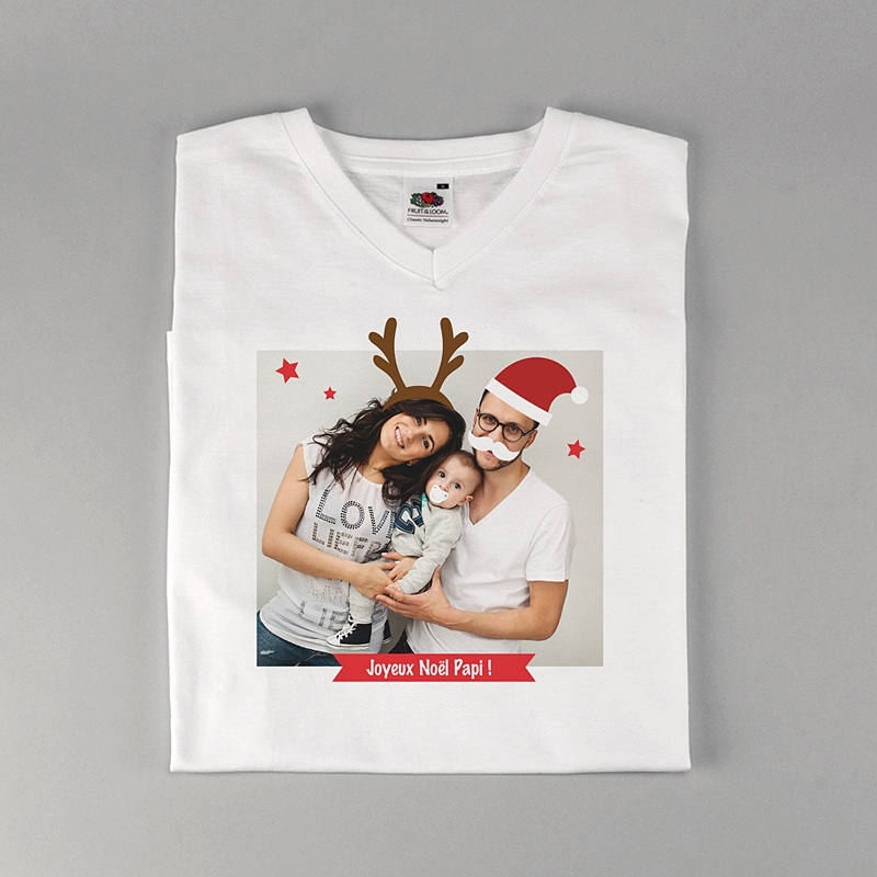 Tee-Shirt Personnalisé Photo Christmas T