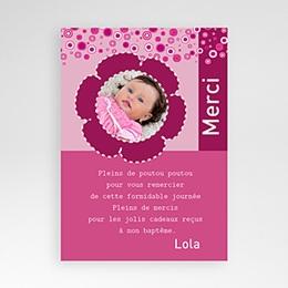 Carte remerciement baptême fille  Pop - Fille