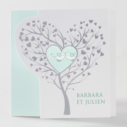 Faire-Part Mariage Traditionnel - Les inséparables 45700