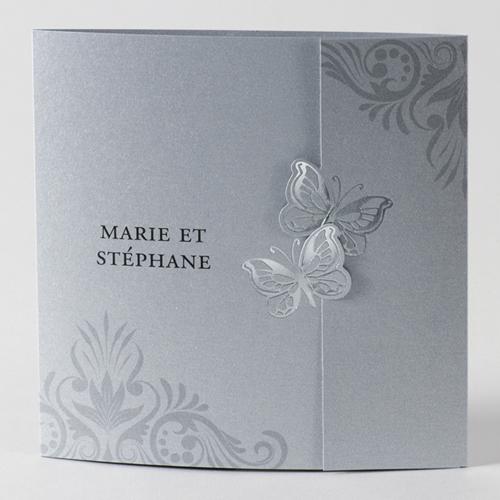Faire-Part Mariage Traditionnel - Envolés de papillons 45713