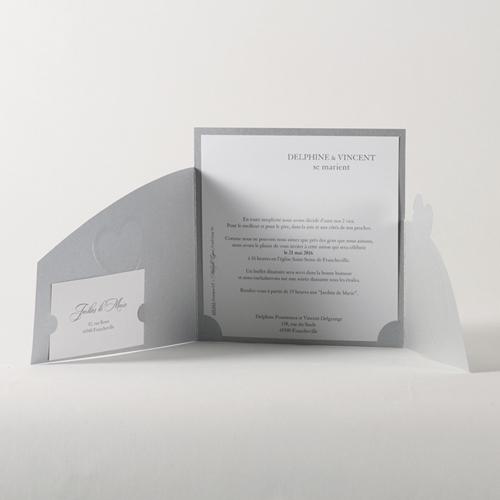 Faire-Part Mariage Traditionnel - Coeur d'argent 45716 preview