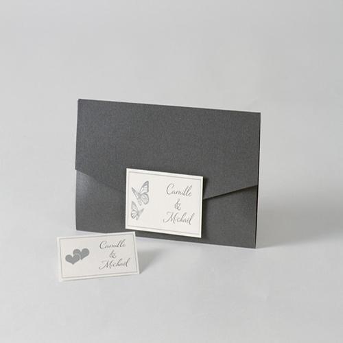 Faire-Part Mariage Traditionnel - Pochette enveloppe 45735
