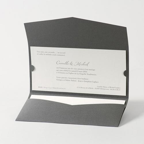 Faire-Part Mariage Traditionnel - Pochette enveloppe 45736 preview