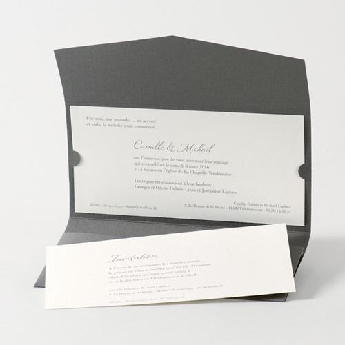 Faire-Part Mariage Traditionnel - Pochette enveloppe 45737 preview
