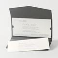 Faire-Part Mariage Traditionnel - Pochette enveloppe 45737 thumb