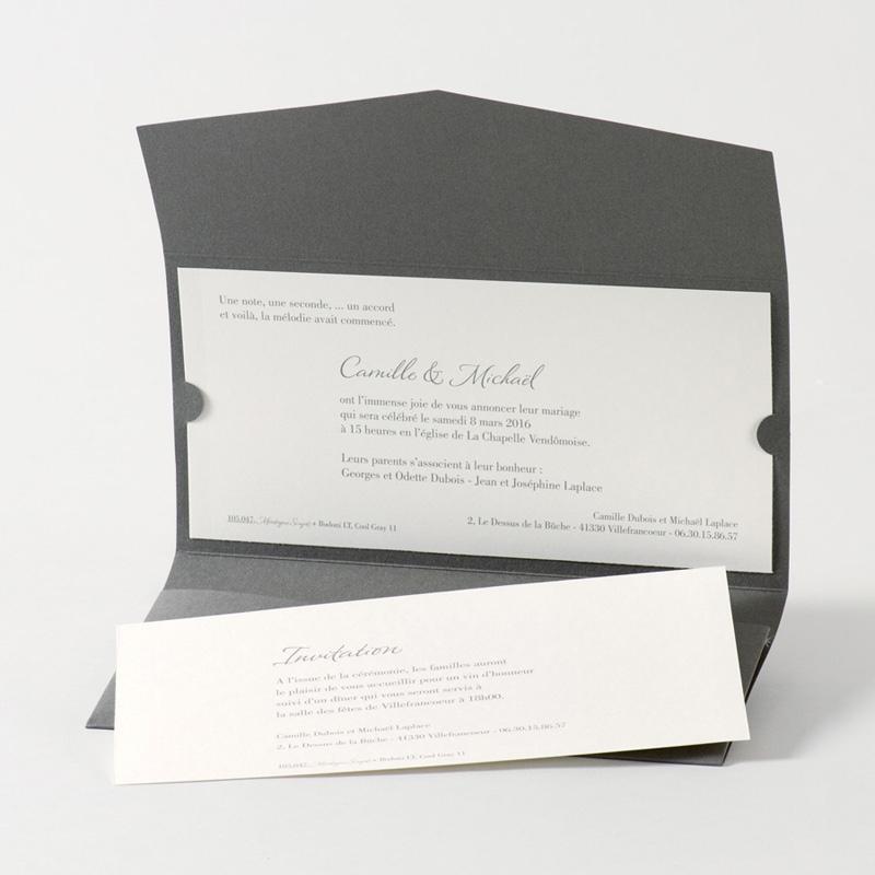 Connu Faire-Part Mariage Traditionnel - Pochette enveloppe | Carteland.com UF27