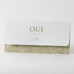 Faire-Part Mariage Traditionnel - Pochette de luxe - 0